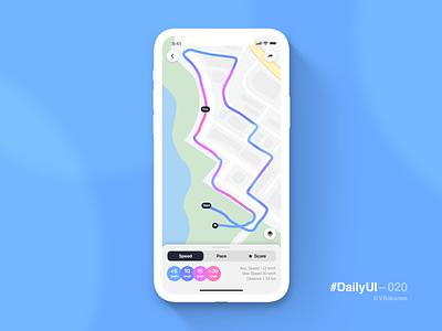 DailyUI–020 running app iphone app ios ux ui location tracker 020 dailyui