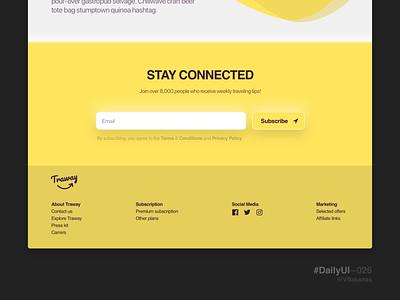 DailyUI–026 subscribe web design web ux ui 26 026 dailyui dailyui 026