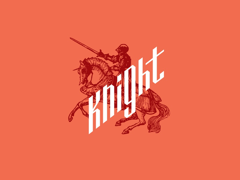 Knight logotype concept medieval identity icon branding graphic design art vector illustration graphic logodesign typography design logos logo horse knight