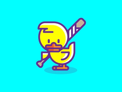Don't mess with this chick bird chick animal icon art vector character graphic design illustration graphic design
