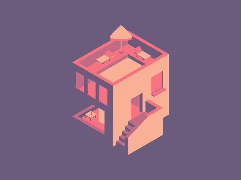 Isometric House graphic design art vector illustration flat house isometric design graphic