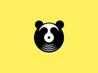 Panda Records business records company music icon flat character art graphic design illustration graphic design vector brand branding logos logo panda
