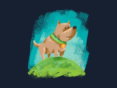 Quick doggie illustration painting digital design graphic art drawing illustration dog
