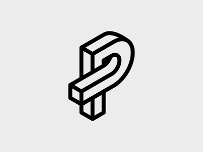 Letter P logo concept typography identity brand icon branding graphic design vector graphic design logo