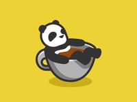 Coffee bath for tiny Panda