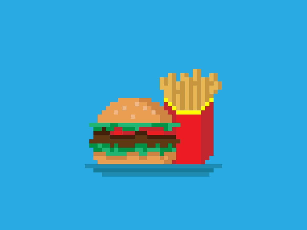 Burger Fries By Tuho Muho On Dribbble