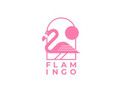 Flamingo logo concept