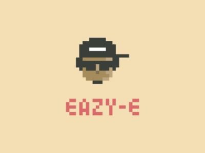 Eazy-E art graphic design nwa hip hop rap illustration 8bit pixel eazy-e