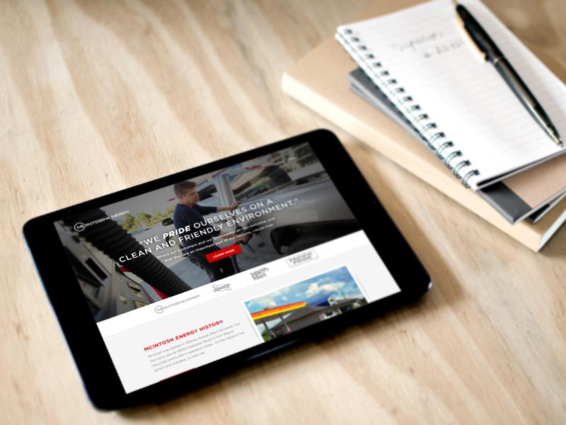 McIntosh Energy Site Mockup mcintosh energy mockup redesign web design photoshop design responsive ipad ipad mini ux ui