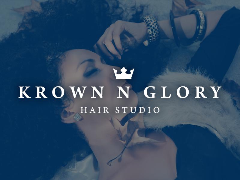 Krown N Glory Identity branding creative direction logo photoshop brand identity identity