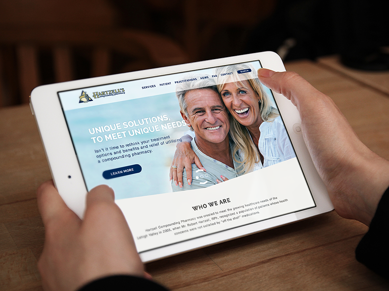 Hartzell Compounding Pharmacy Site hartzell compouding pharmacy redesign website responsive mockup photoshop ipad