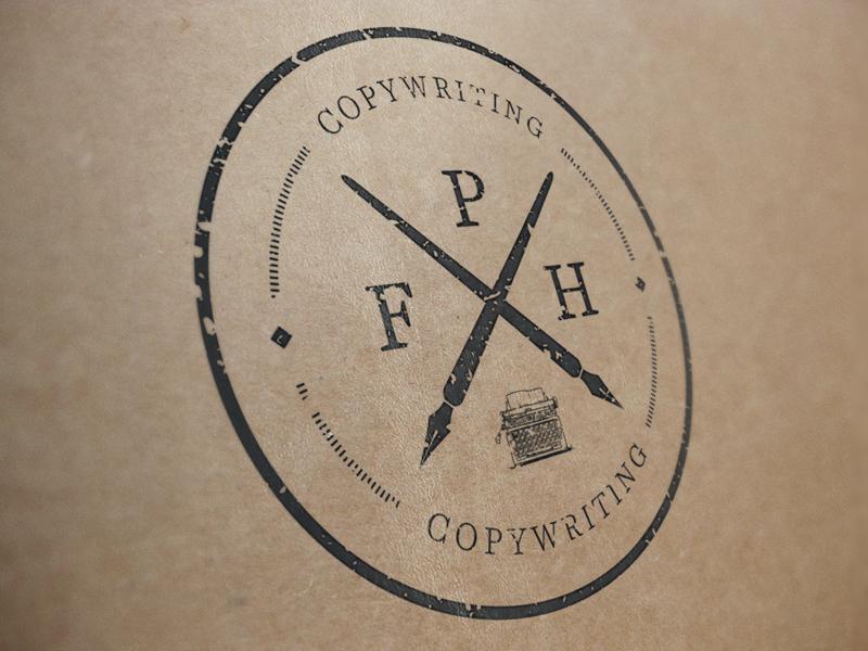 FPH Copywriting fph copywriting logo badge retro vintage stamp grunge mockup illustrator seal