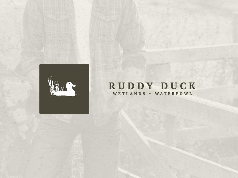 Ruddy Duck Outfitters ruddy duck outfitters ruddy duck duck illustrator branding identity logo logotype grunge waterfowl wetlands cattails