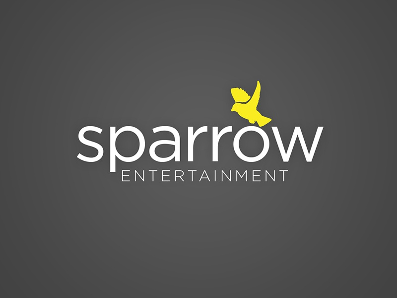Sparrow Entertainment logo branding identity icon illustrator symbol mark brand sparrow