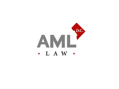 AML Law law aml dc startup logo branding washington d.c flag firm law firm