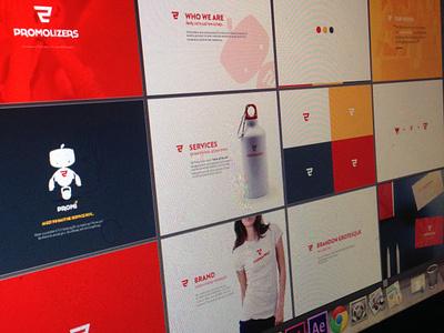 Promolizers Brand Boards branding brand boards identity logo robot shopping cart promo color palette pantone brand promolizers