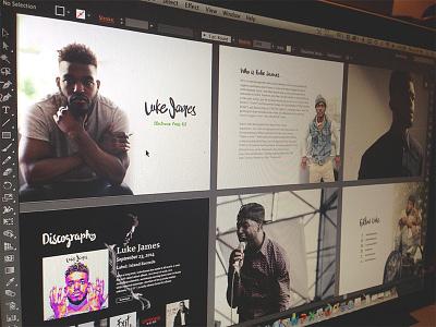 Luke James PressKit presskit press kit graphic design branding media typography illustrator epk fallback media digital
