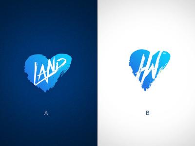 Heartland Worship Mark heartland identity brand mark logotype logo brand identity grunge band land heart symbol