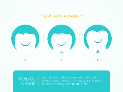 Vote Now - Help Make Mo Better branding brand identity brand mark icon tooth molar dentist dental smile mo dentistry
