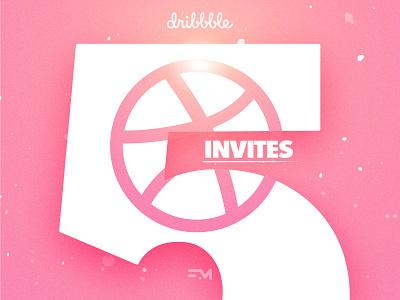 5x Dribbble Invites - Fallback Media Draft Day gradients branding media fallback five 5 draft giveaway invites