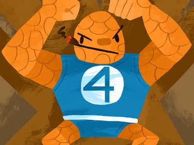 The Thing the thing ben grimm marvel marvel comics illustrator photoshop