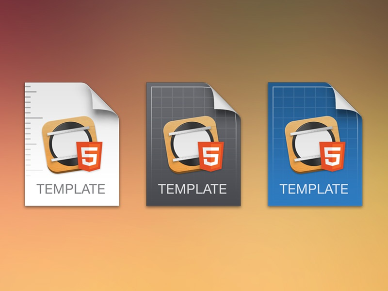Template Icon Experiment html5 tumult mac app icon file osx yosemite hype pro blueprint apple