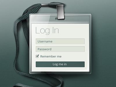 Login button ui badge lanyard login form green field signin sign metal flat ios app android nexus