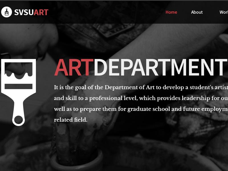 SVSU Art Department art svsu university redesign web design art department