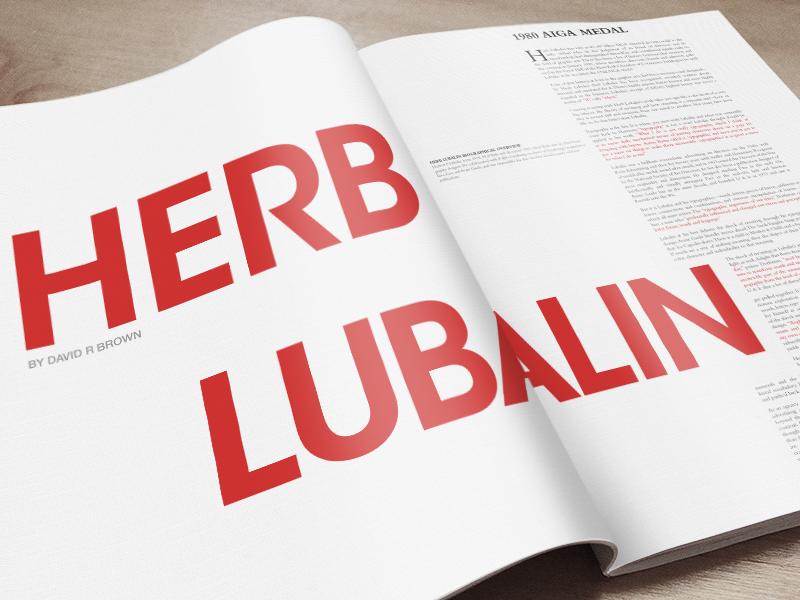 Herb Lubalin spread magazine
