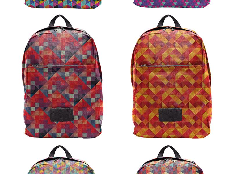 Optical Geometric Patterns patterns optical art geometry geometric pattern backpack backpack mockup mockup