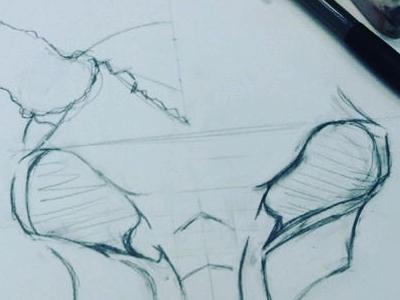 Animal Skull - Sketch animal skull pencil sketch illustration skull illustration skull sketch pencil sketch skull animal