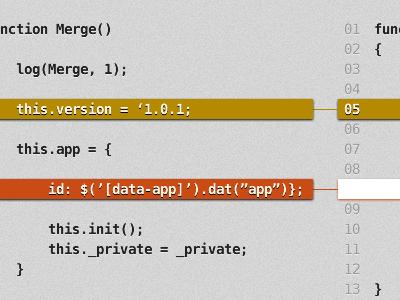 HTML5 Merge Tool by Karim Maassen on Dribbble