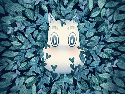 Hello 2021 cute illustration leaves plants moomin flat illustration illustration graphic art