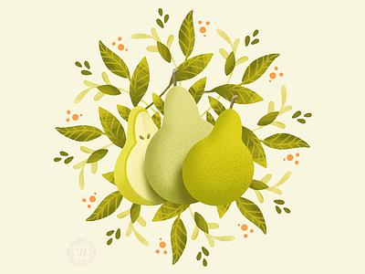 Juicy Pears fruit illustration pears fruits fruit graphic artist illustration graphic art