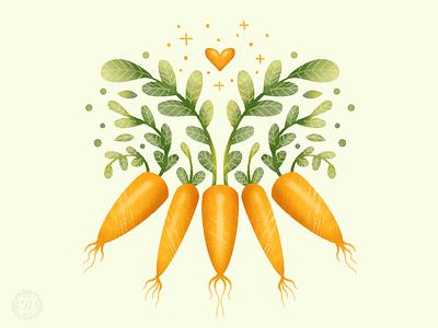 Snacky Carrots food illustration veggies carrots vegetable graphic artist illustration graphic art