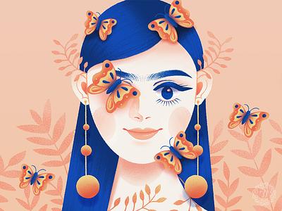 Butterflies drawthisinyourstyle butterflies floral portrait illustration graphic art