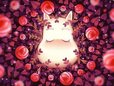 Valentine 2021 flowers floral roses moomin flat illustration illustration graphic art