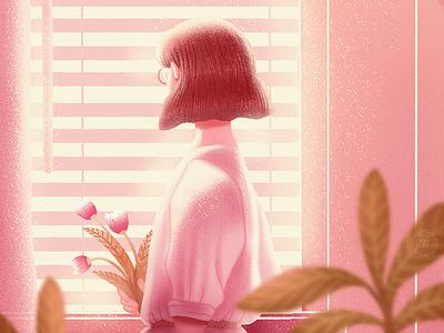 Miss You figure flat illustration illustration graphic art