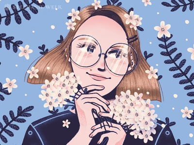 30s is the new 20s! 💎 floral flat illustration graphic artist illustration graphic art