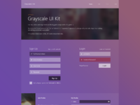 Grayscale ui kit   full preview
