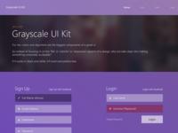 Grayscale Ui Kit (Free PSD)