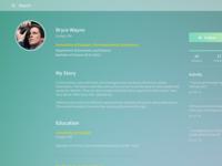 Simple Profile [Free PSD]