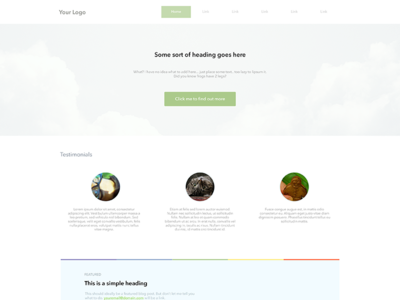 Super Simple Landing Page [Free PSD]