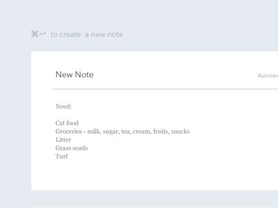Minimal Note Taking UI [Free PSD]