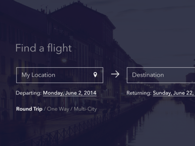 Minimal Flight Booking UI [WIP]