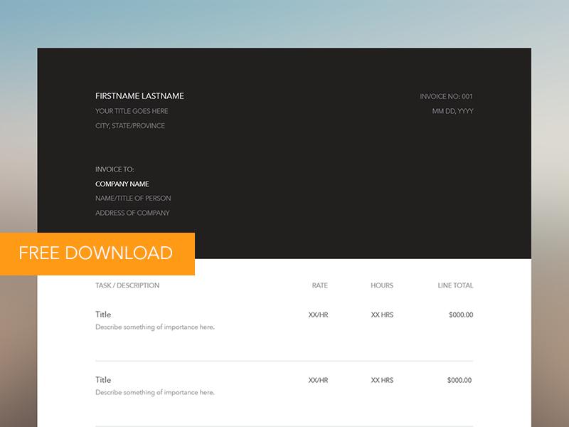 Invoice UI [Free Download] [Illustrator] illustrator free ui invoice mockup minimal simple