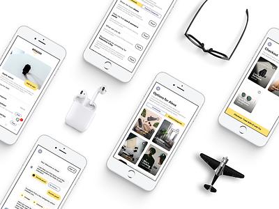 Amazon Alexa Chatbot Shopping Assistant madeintoronto iphone ui minimal alexa ecommerce commence shopping amazon conversational chatbot