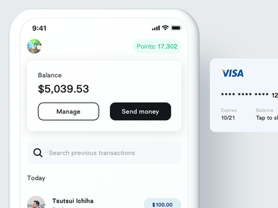 Wallet wallet app recents quick access mastercard visa cards madeintoronto toronto peer to peer p2p transactions payments iphone x minimal ux ui wallet