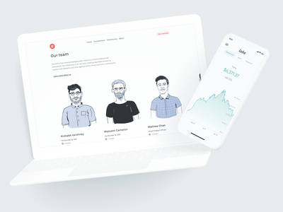 Lake Team and Portfolio branding madeintoronto illustration design minimal investment portfolio bitcoin crypto investing portfolio