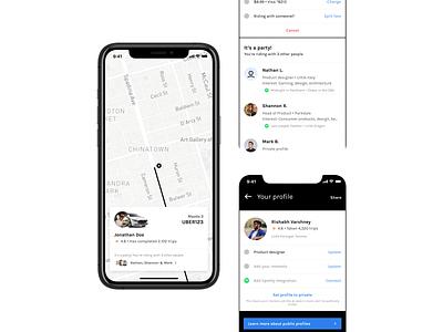 UberPOOL Party profile app ios toronto madeintoronto minimal ux ui ride sharing app social app party uberpool ride sharing uber silly